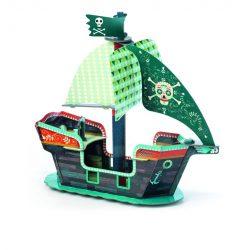 Kalóz hajó 3D - Arty Toys - Pirate boat 3D - Djeco