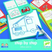 Járművek és munkagépek lépésről lépésre - Step by step - Arthur and Co - Djeco