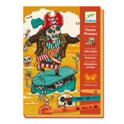 Csontváz kapitány - Színező kétoldalú filctollal - Scared stiff - Djeco