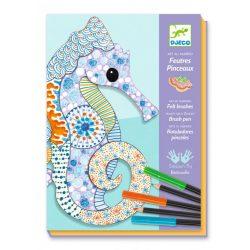 Művészi állatok - Képalkotás filccel és ceruzával - Motif art - Djeco