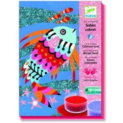 Szivárvány halak - Homokszóró csillámporral - Fish rainbows - Djeco