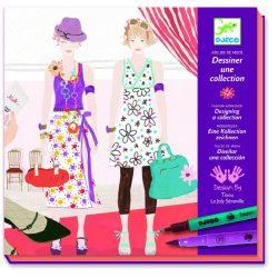 Légy divattervező - Alkotó készlet kétoldalú filctollal és kiegészítőkkel - Drawing a fashion show - Djeco