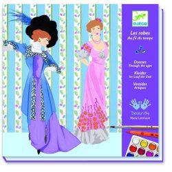 Korokon át divattal - Színező festékkel és kétoldalú filctollal - Dresses throught the ages - Djeco