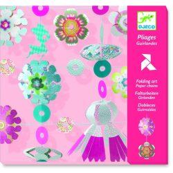 Girland készítés - Origami - Folding garlands - Djeco