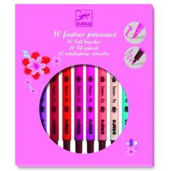 Ecsetfilc 10 db lányos szín - Kétoldalú filctoll - 10 felt brushes - girl - Djeco