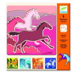 Lovas rajz sablon - Horses - Djeco