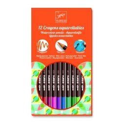 Akvarell ceruza 12 db klasszikus színek - 12 watercolour crayons - classic  - Djeco