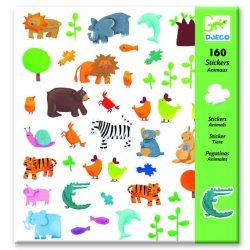 Állatos matrica gyűjtemény 160 db-os - Animals - Djeco