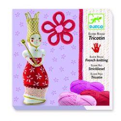 Körmöcske szett piros - Francia kötés - French knitting Elodie (red) - Djeco