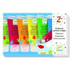 Ujjfesték 6 színű palettával -  - Djeco