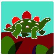 Dinoszauruszok rajz sablon - Dinosaurs - Djeco