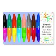 Zsírkréta dupla végű 8 db-os - 8 twins crayons - Djeco