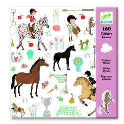 Ló és lovasa 160 db-os matrica gyűjtemény  - Horses - Djeco