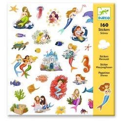 Hableányok 160 db-os matrica gyjtemény - Mermaids - Djeco