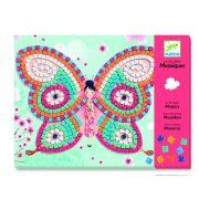 Pillangós mozaik kép készítés 3D hatású - Butterflies - Djeco