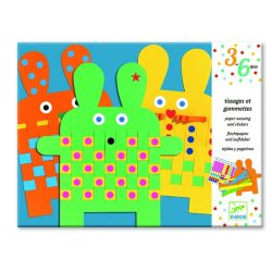 Állatos papírszövő - 6 bunnies - Djeco
