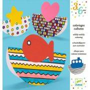 Színező vonalvezetéssel - Wibbly-wobbly colouring - Djeco