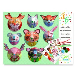 Trófea készítés - Papírszobor 3D - Pop up decoration - Portrait gallery - Djeco
