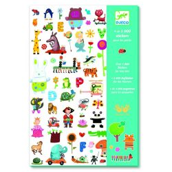 Matrica gyűjtemény 1000 db-os - 1000 stickers for little ones - Djeco