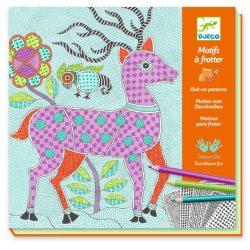 Csodálatos állatok - Képalkotás minta satírozásával - Patterns to rub - Mithila - Djeco