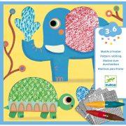 Magali barátai - Képalkotás minta satírozásával - Patterns to rub - Magali's friends - Djeco