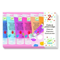 Ujjfestő tubusos készlet - Édes színek - 6 finger paint's tubes - Sweet - Djeco