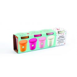 Gyurma 4 tégely - Édes színek - 4 tubs of play dough, Sweet - Djeco