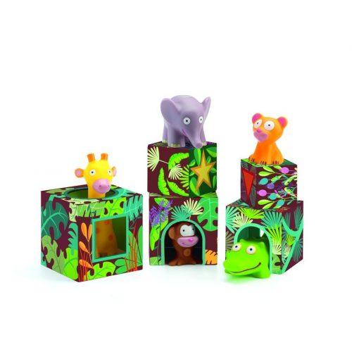 Bújócska a dzsungelben - Építő játék kicsiknek - Maxi Topanijungle - Djeco