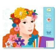 Virágok között - Képalkotás virág készítéssel - Young girls in flowers - Djeco