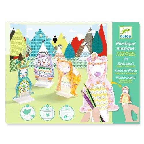 Állatok varázslatos műanyag - Zsugorodó műanyag - Pow Wow - Djeco