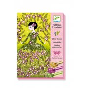 Nagyestélyi ruhák - Képalkotás csillámporral - Glitter dresses - Djeco