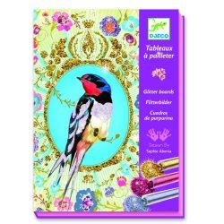 Tündöklő madarak -  Képalkotás csillámporral - Glitter birds - Djeco