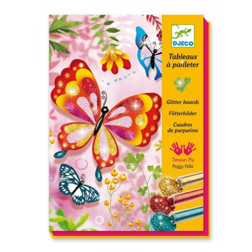 Tündöklő pillangók - Képalkotás csillámporral - Butterflies - Djeco