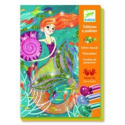 Tündöklő hableányok - Képalkotás csillámporral - Mermaids - Djeco