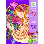 Tündöklő virágözön - Képalkotás csillámporral - The scent of flowers - Djeco