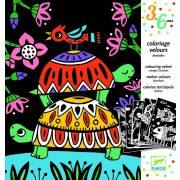 Állatkák - Bársony színező - Velvet colouring - Creepy crawlies - Djeco