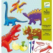 Mozgatható dinoszauruszok - Képalkotás jancsiszöggel - Dinos - Djeco