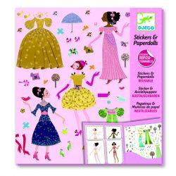 Kis dámák - Öltöztetős matrica gyűjtemény - Dresses through the seasons - Djeco