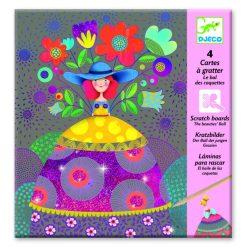 Virágzó lányok - Képalkotás karc technikával - The beauties' ball - Djeco