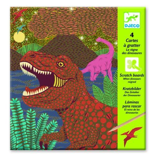 Dinoszauruszok - Képalkotás karc technikával - When dinosaurs reigned - Djeco