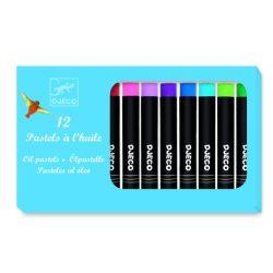 Olajpasztell készlet 12 szín klasszikus - 12 oil pastels - Classic colours - Djeco