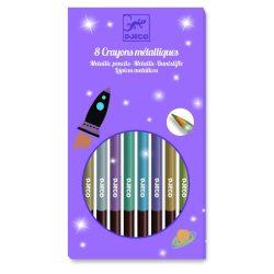Színes ceruza 8 színű metál - 8 metallic pencils - Djeco