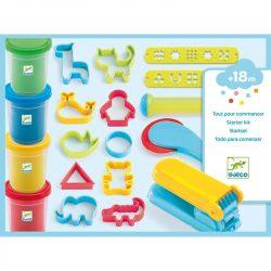 Gyurmázó szett - 4 tégely 21 eszközzel - Introduction to dough 4 tubes / 21 tools - Djeco