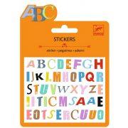 Írka-firka mini matrica - Térhatású csillogó matrica gyűjtemény - Coloured letter - Djeco