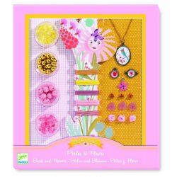 Virágok és gyöngyök - Ékszerkészítő szett - Pearls and flowers - Djeco