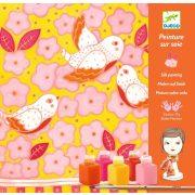Madarak - Selyemfestő készlet - Sparrows - Djeco