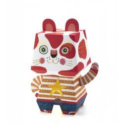 Művészi cica - Papír lámpás - Arty Cat - Djeco