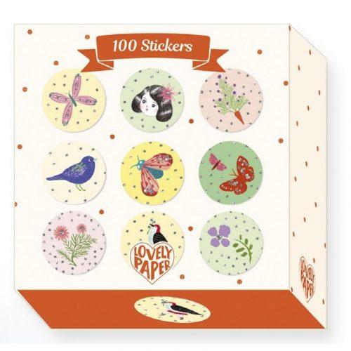 Chichi matricák - 100 Chichi stickers - Djeco