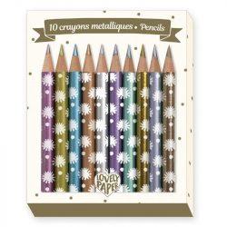 Chichi mini színes ceruza 10 db - 10 Chichi mini metalic pencils - Djeco