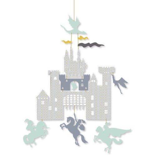 Kastély - Mini függődísz - Castle and dragons - Djeco